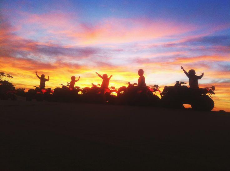 Sunset quad bike tours #portstephens
