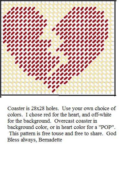 broken heart coaster