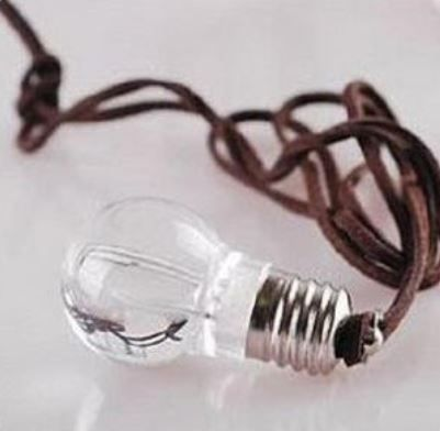 Jewellery with a twist, a bit quirky, a tad geeky, super cute & vintage inspired! Edison lightbulb necklace.