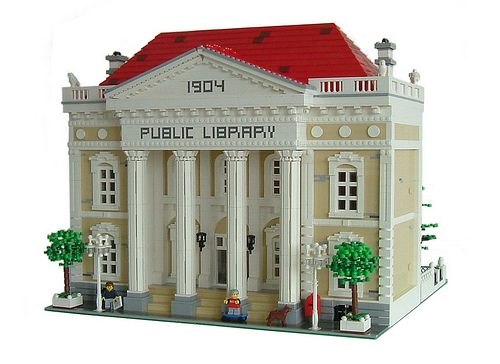 MOC: Public Library MOC - LEGO Town - Eurobricks Forums
