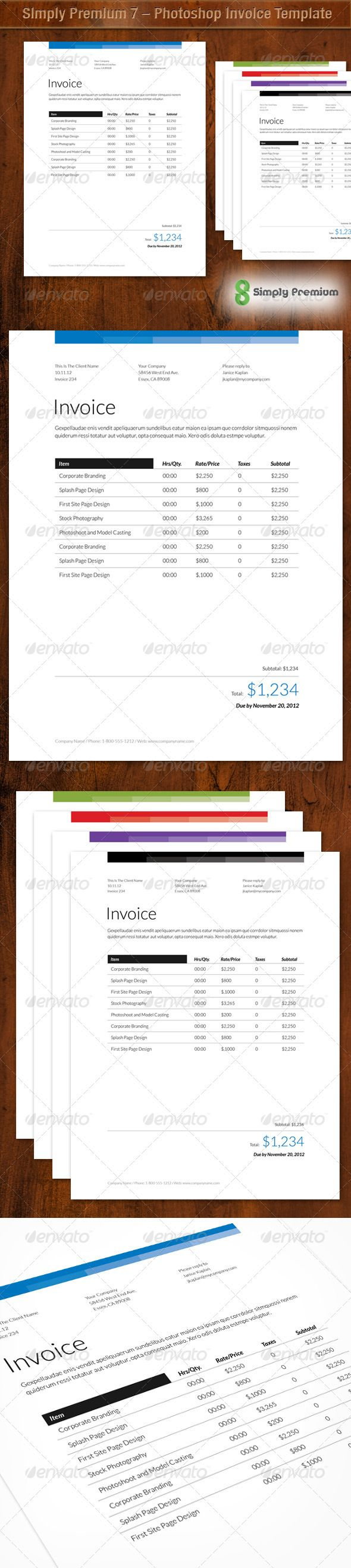 140 best # invoice templates designs images on pinterest | invoice, Invoice templates