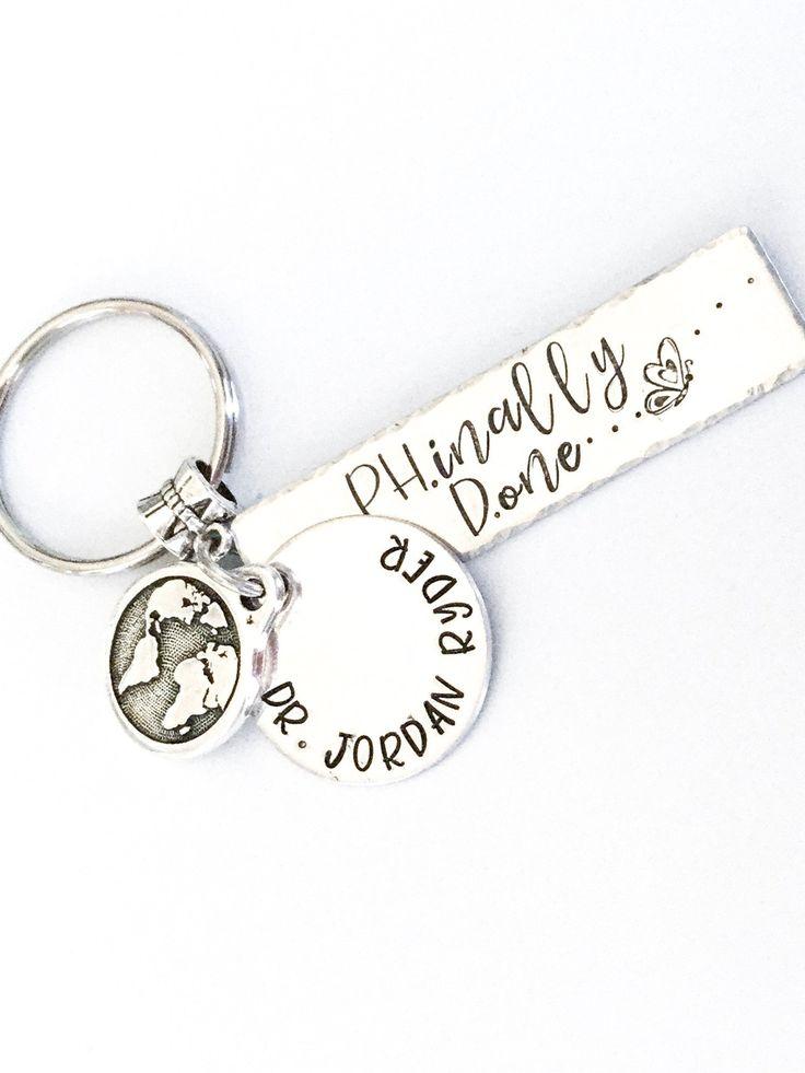 Graduation phd gift keychain inspiration message name