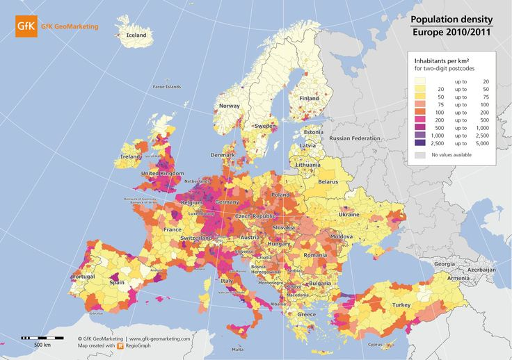 European Population Density Map