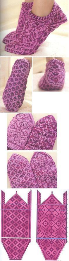 вязание носков с мыска