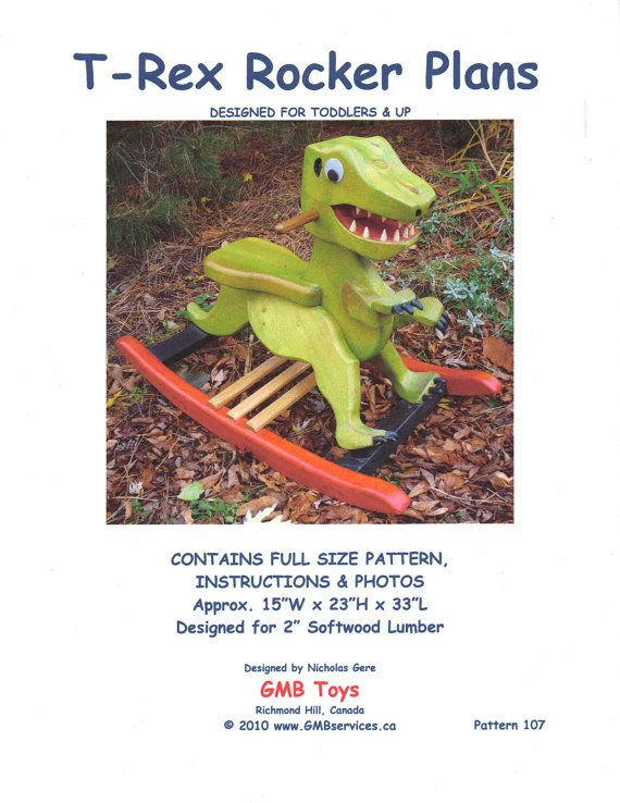 Woodworking Plans for Rocking T-Rex Dinosaur for Toddlers 107 Dino Rocker