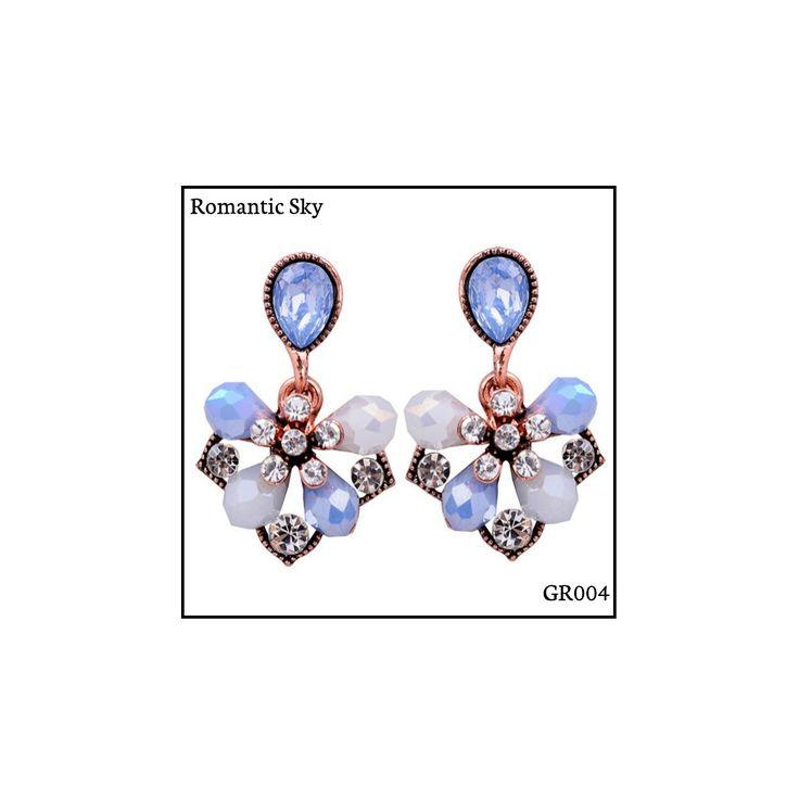 Ref: GR004 Romantic Sky Medidas: 2.9 cm x 1.8 cm So Oh: 5.99 #sooh_store #onlinestore #glam #style #brincos #earrings #fashion #shoponline