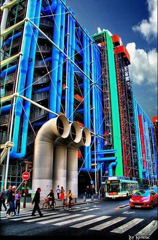 Centre Pompidou by Gianfranco Franchini, Renzo Piano and Richard Rogers