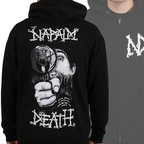 Hoodie – Napalm Death – Magnifying Glass (zip)