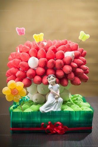 Seta de chuches!!, tarta de comunion Marshmallow and candy
