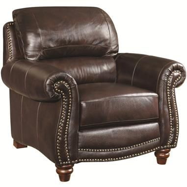 Awesome Lockhart Traditional Burgundy Brown Leather Chairs