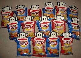 Zakje chips met Paul Frank knijper
