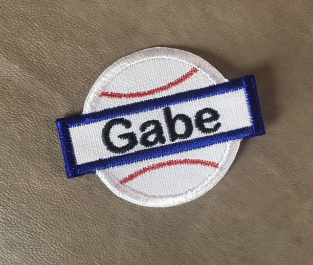 BASEBALL APPLIQUE Name Patch - Iron On - 3 Sizes - Style 27, Kids Patches, Bag Patch, Tote Patch, Back Pack Patch, Ready to S#babies #personalizedpatches #babyshower #newbaby #babybodysuits #bodysuitsforboys #bodysuitsforgirls #personalizedbodysuits #namepatches #cutepatches #stockingstuffers #kidspatches #irononnamepatches #custompatches #monogrampatches #baseballpatch #baseballnamepatch