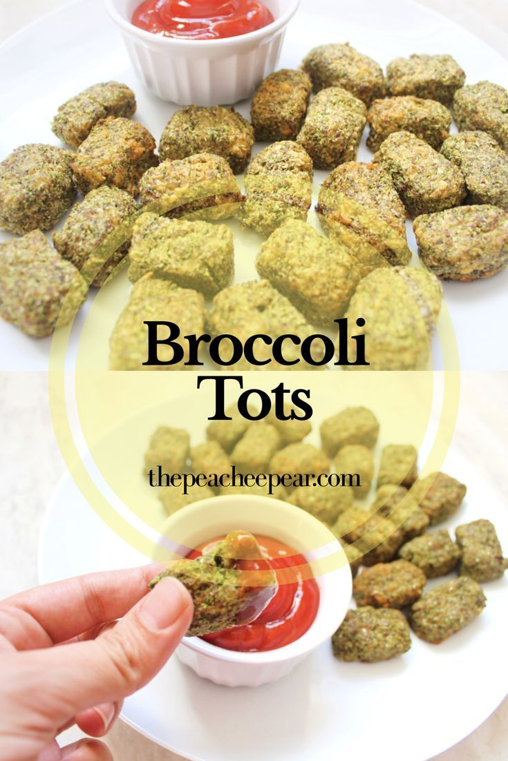 Improved my Broccoli Tots recipe to make this version with even more nutrition. Check out what ingredient I substituted bread crumbs for making these healthier! Great finger food for toddlers and for BLW ( baby led weaning).  via @ThePeacheePear