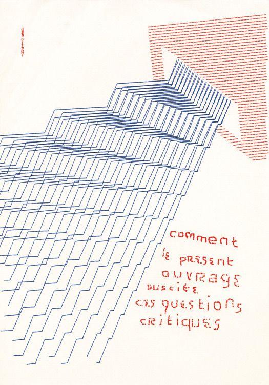 Houédard, comment le present ouvrage suscite ces questions critiques, 1971(typestract)