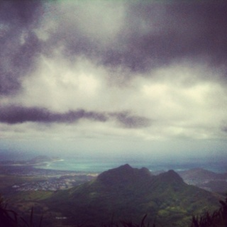 The view from the top of ka'au crater  after the challenging seven waterfall hike!