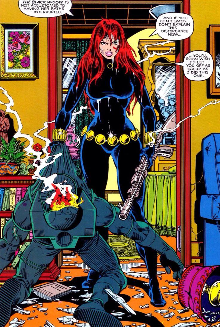 Black Widow's Bath Time. Marvel Fanfare #10 August 1983