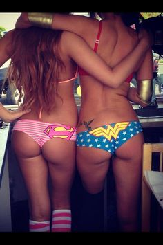 Supergirl and Wonder Woman! love these panties!