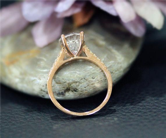 Grotere ovale 8x10mm natuurlijke roze Morganite Ring massief
