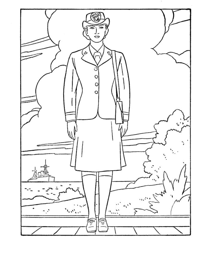 Veterans Day Rosie The Riveter Coloring Pages