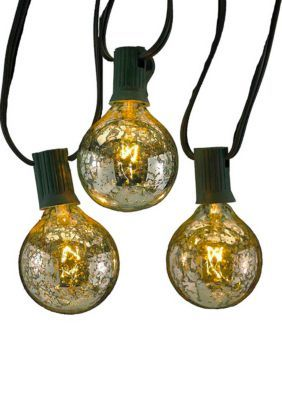 Kurt S. Adler Ul 10-Light G50 C7 Silver Novelty Light Set -  - One Size