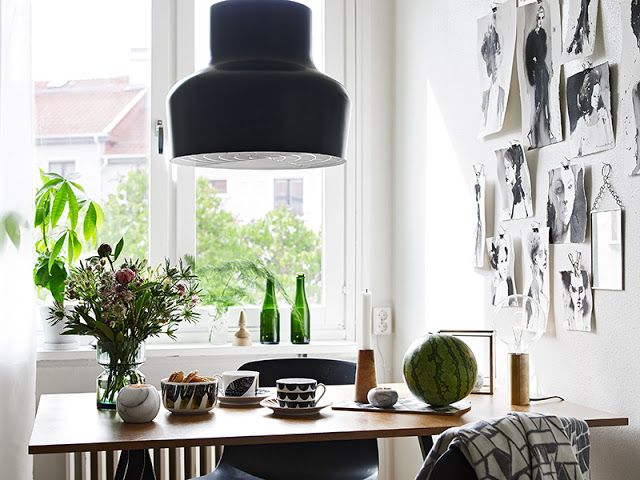 my scandinavian home: A lovely Gothenburg apartment.  Og marimekko skålen.