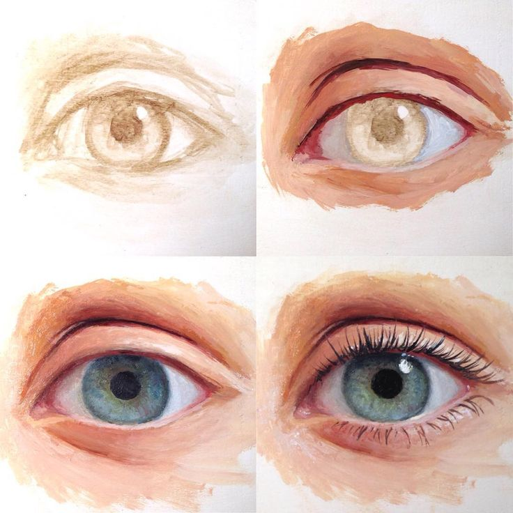 """6,285 Likes, 71 Comments - Lena Danya  (@lenadanya) on Instagram: """"Painting stages ❤️ """"how to paint a realistic eye"""" tutorial is uploaded to my channel:…"""""""