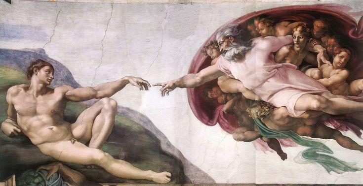 Η δημιουργία του Αδάμ Μιχαήλ Άγγελος (1510)