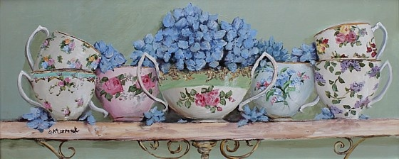 Vintage China & Hydrangeas by Gail McCormack. original painting is sold - as are most of her originals but she may have prints available if you check.
