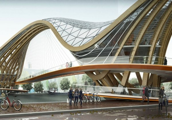 Mixed-use Bridge for Amsterdam | Laurent Saint-Val