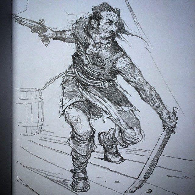 Art of Karl Kopinski - Some crazy pirate action!