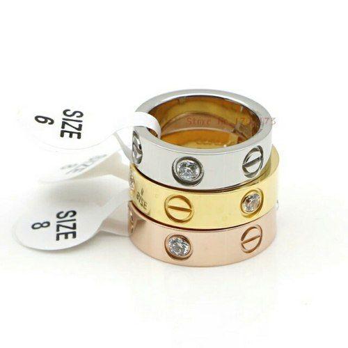 Anillo Cartier Love Style Oro Y Plata. - $ 580.00
