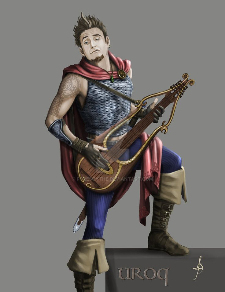 Image result for bard with mandolin