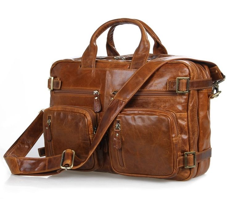 Image of Quality Genuine Leather #Laptop Briefcase/tote/shoulder #Bag# Laptops and #Tablets Briefcase#