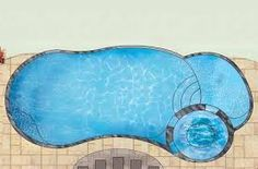 Image result for fiberglass pool with tanning ledge