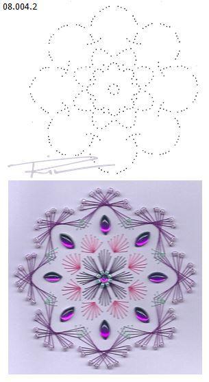 08.004.2 borduren op papier 08.004.2 embroidery on paper  08.004.2 broderie sur papier