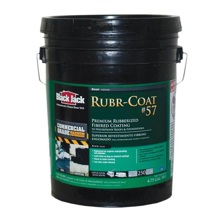 BLACK JACK 4.75Gallon Fibered Waterproofer Roof Sealant