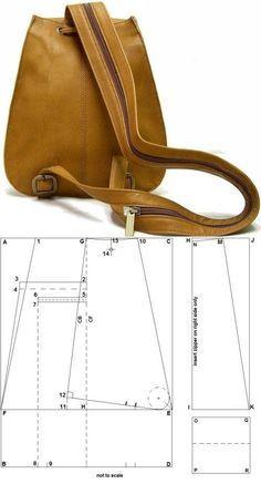 leather backpack diy tutorials...♥ Deniz ♥