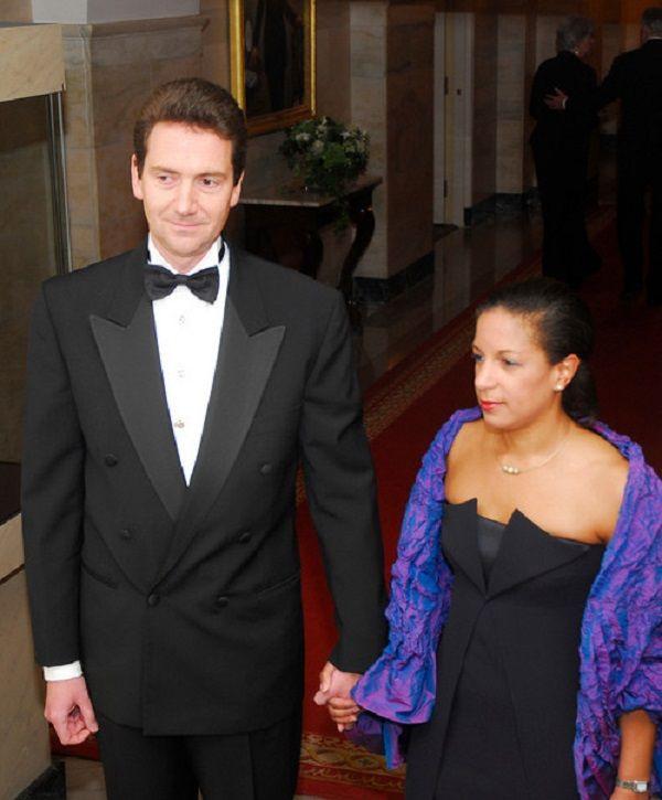 Susan Rice and husband Ian Cameron. Married 1992