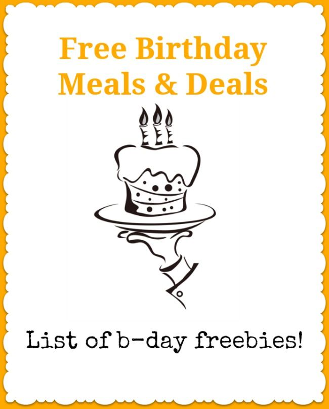 Best 25+ Free Birthday Meals Ideas On Pinterest