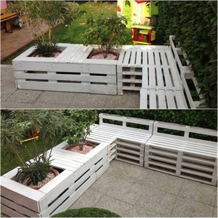 pallets crafty pallets pinterest paletten m bel f r drau en terrasse gestalten und. Black Bedroom Furniture Sets. Home Design Ideas