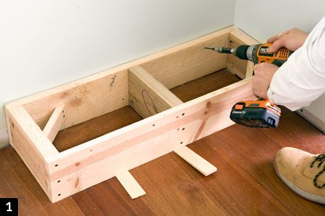 How to build built in bookcases  Bookcase Step 1
