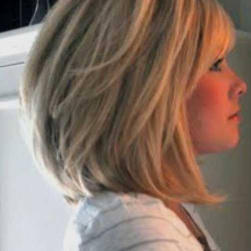 Short to Medium Haircuts Stacked Cut