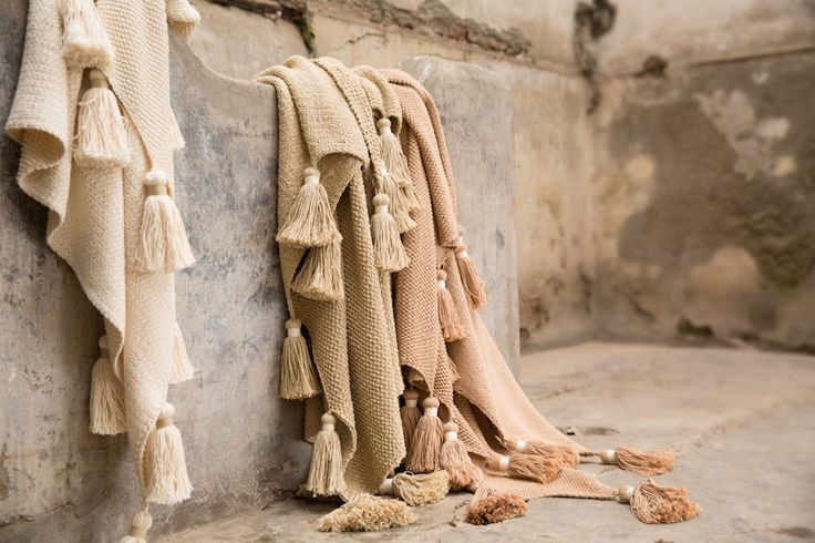 Hand knitted organic color grown cotton throws.  Made by women artisans in Peru.  No dyes, no chemicals, just love...