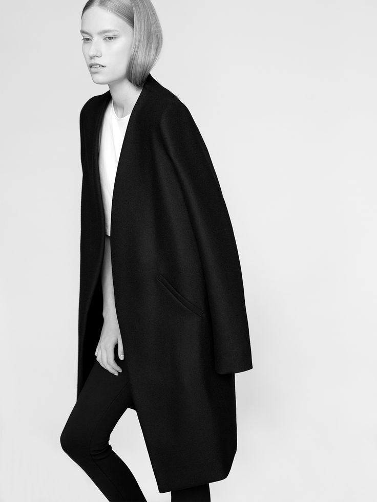 THISISNON coat 100% finest merino wool fabric model Malwina Garstka Modelplus Photographed by Kasia Bielska thisisnon.com