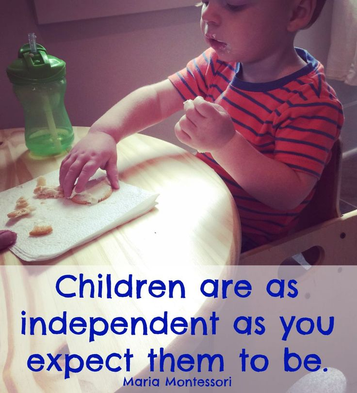 50 Ways To Promote Baby And Toddler Independence Maria Montessori