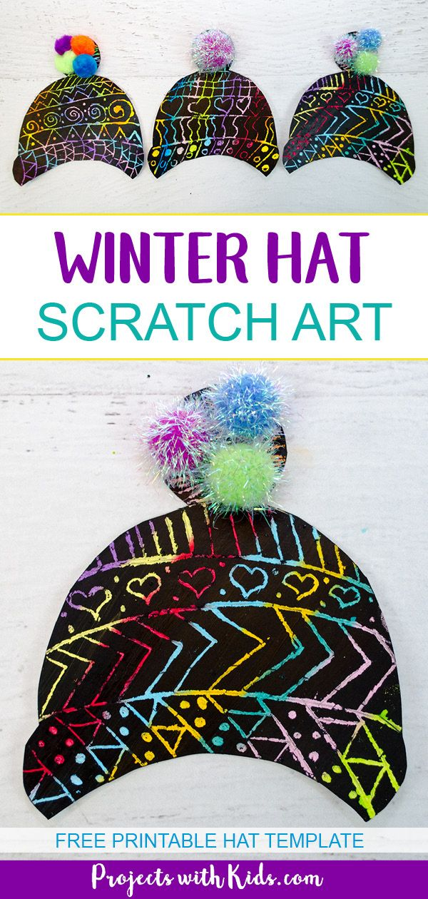 Make a Colorful Winter Hat Craft with Scratch Art