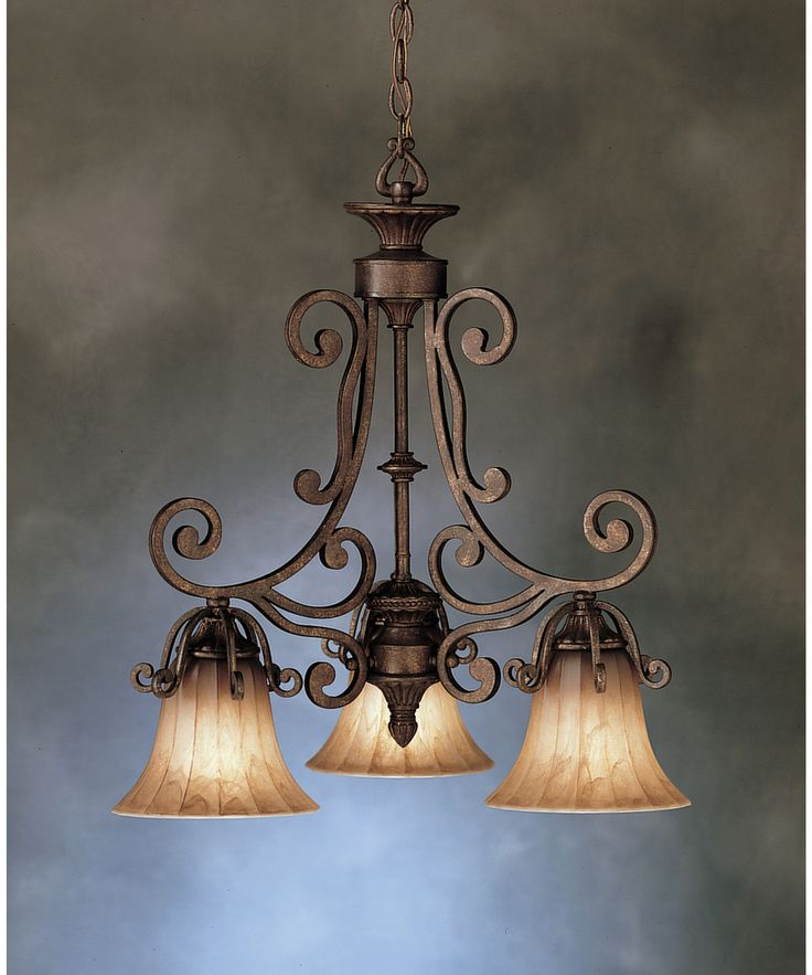 tuscan style chandelier   Carre Bronze Cottage Grove Tuscan Three Light Mini Chandelier ...