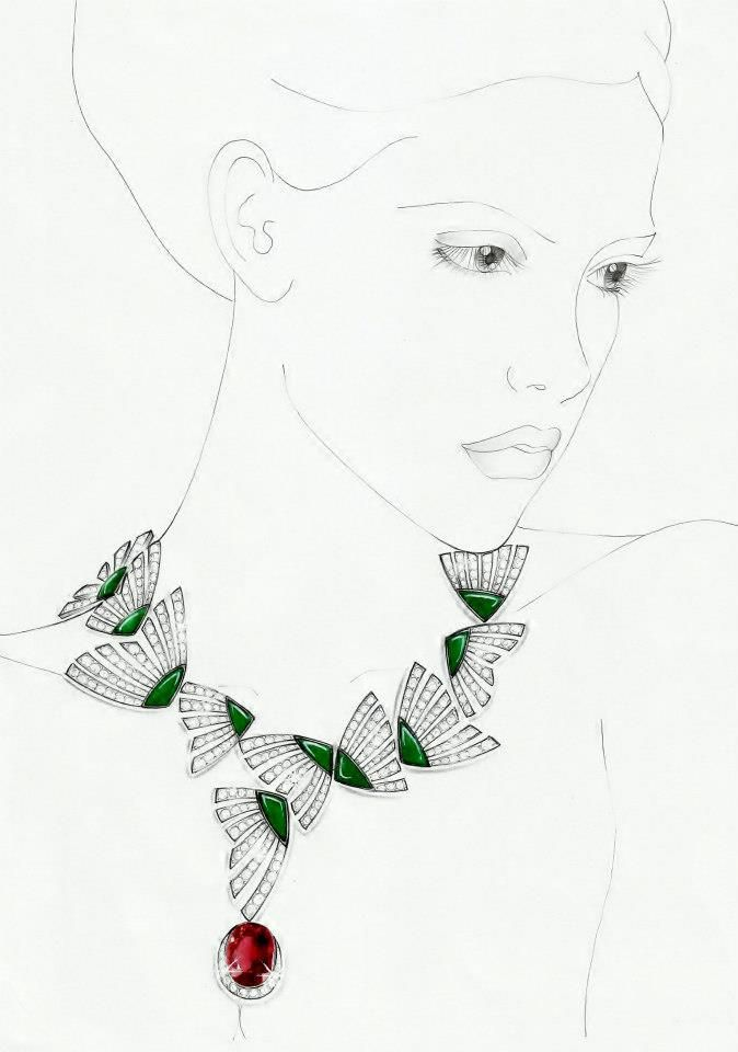 2649 Best Images About Jewelry Rendering And Process On Pinterest | Croquis Jewellery And Gouache