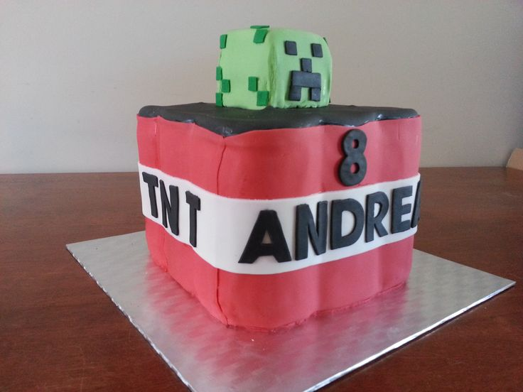 Minecraft cake for my son