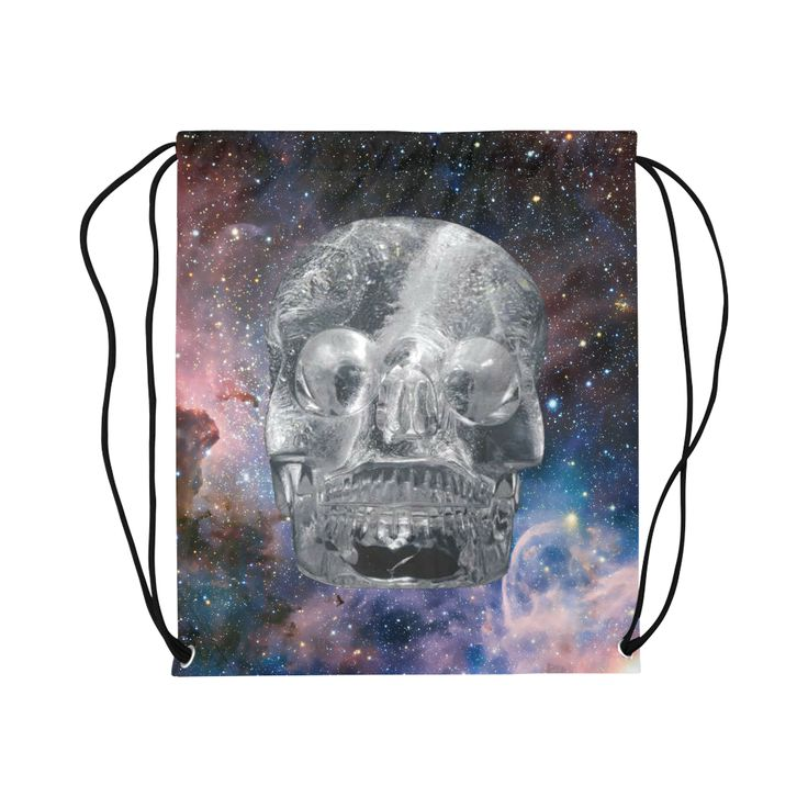 Crystal Skull Basketball Drawstring Bag Model 1604 (Twin Sides)  16.5